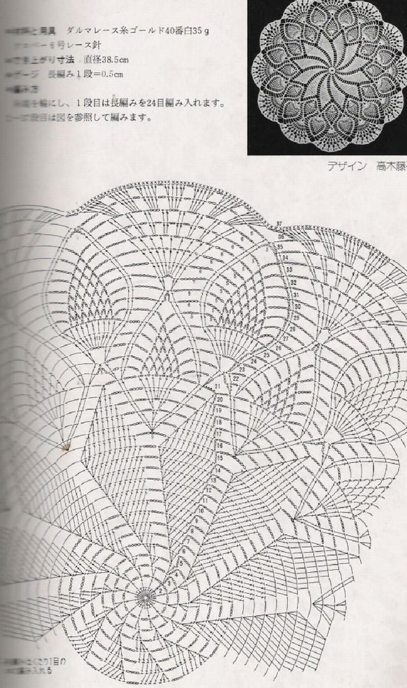 Ondori Crochet Lace 02 Schematy Serwetek Szydelkiem Pinterest Diagram Doily Patterns Doilies Free Chart For With Pineapples Spiral Out Clippedonissuu From