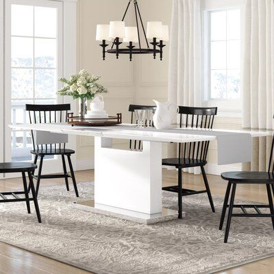 Orren Ellis Yoann Dining Table Dining Table In Kitchen Extendable