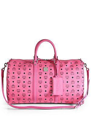 Mcm Stark Weekender Bag Pink