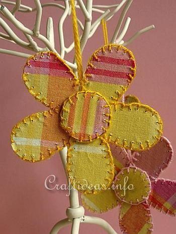 Reciclagem Artesanato - cartão e tecido Flores