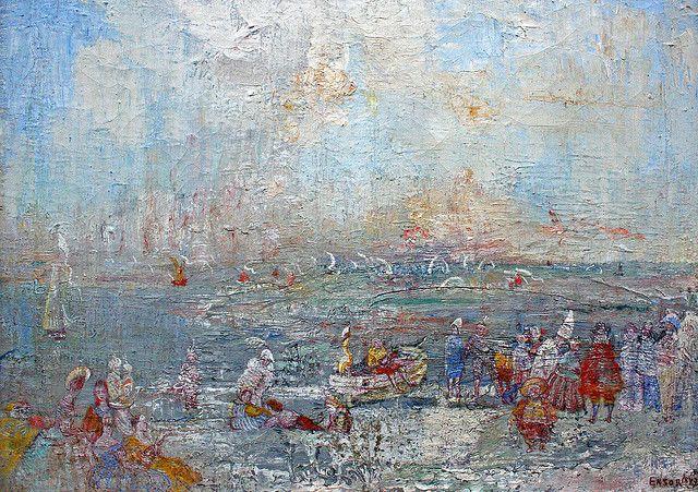"James ENSOR, ""carnival on the beach"", 1887"