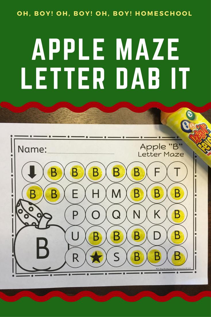 Apple Letter Maze Worksheets | Maze, Letter maze and Language