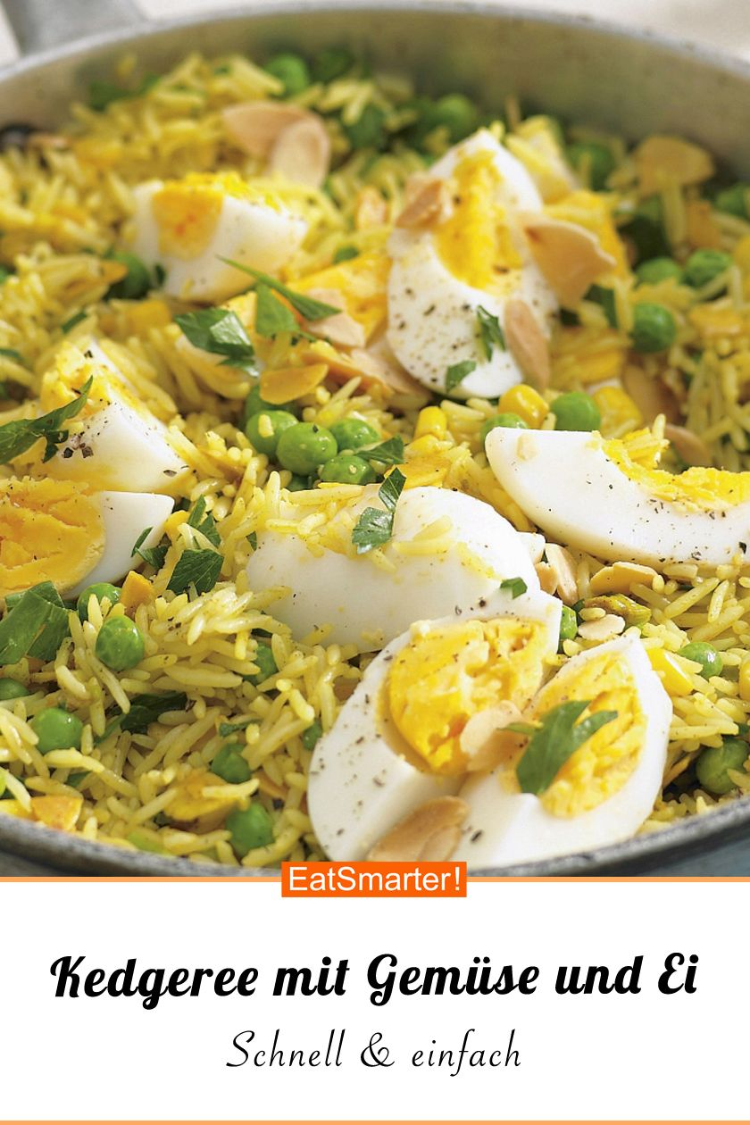Photo of Kedgeree with vegetables and hard egg