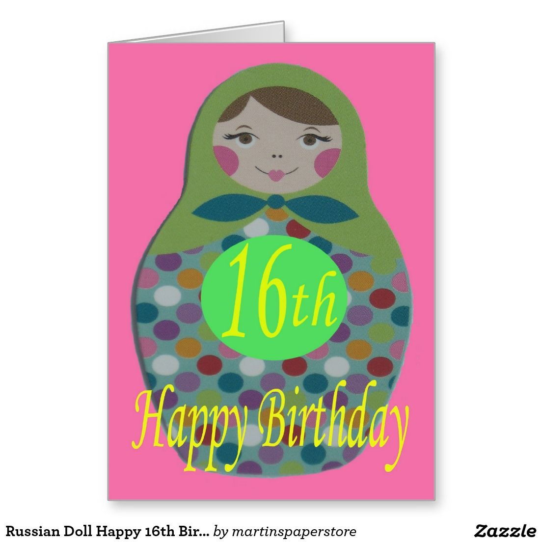 Russian doll happy 16th birthday card happy 16th birthday russian doll happy 16th birthday greeting card kristyandbryce Image collections