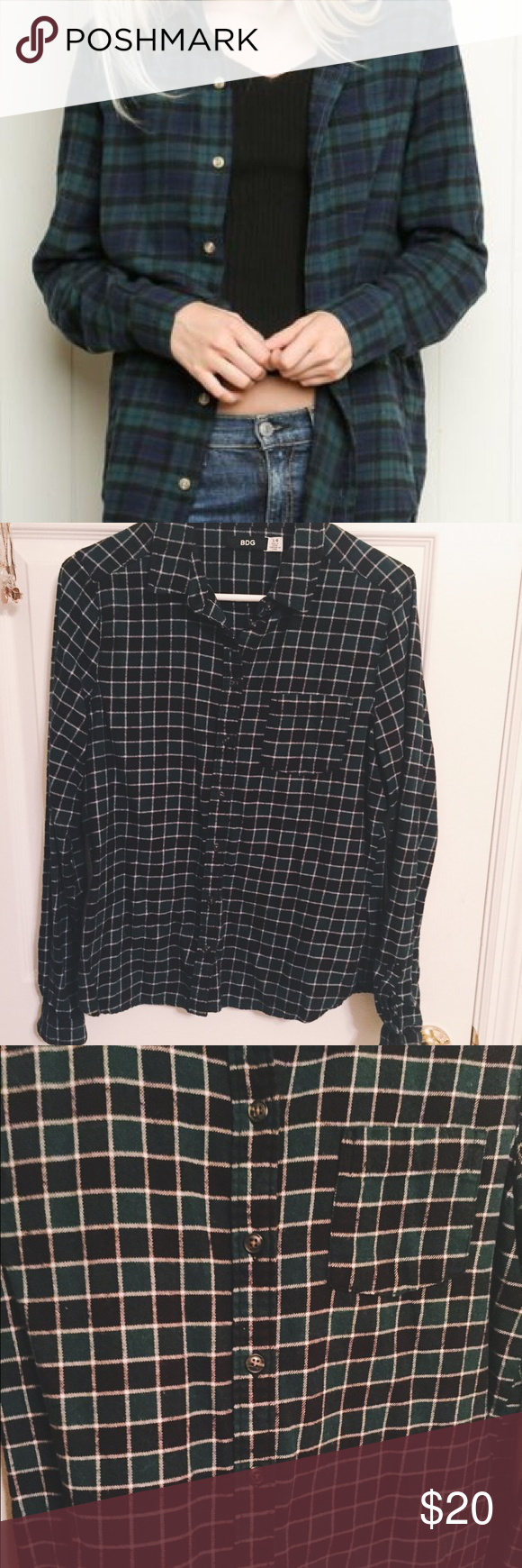 Flannel shirt jeans  BDG Watch Flannel Shirt NWOT  BDG for Urban Outfitters Super cozy