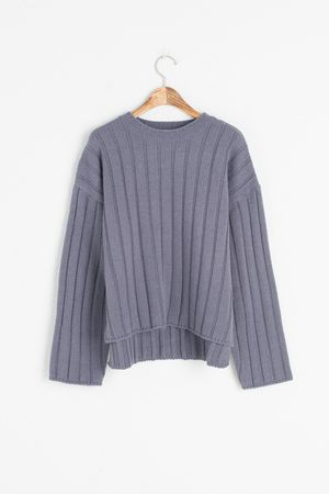 Pin Stripe Knitted Jumper, Blue