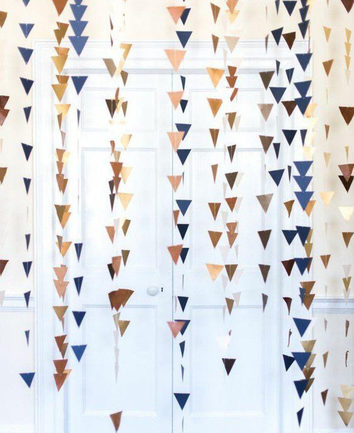 1001 id es de guirlande en papier pour une d co flashy et joyeuse bachelorette party ideas - Fanion deco chambre ...