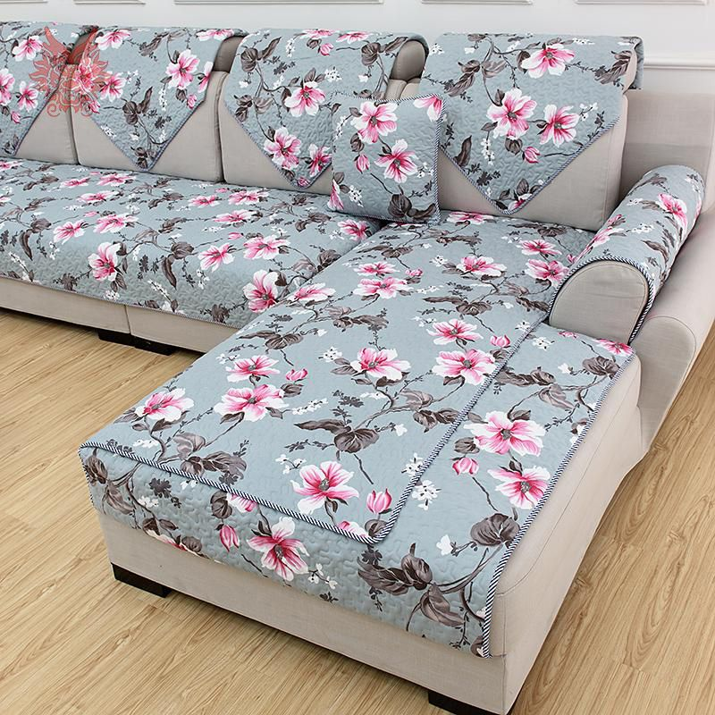 Good 1PC 70*210cm Multi Color Floral Print Quilting Sofa Cover Pure 100%cotton  Sofa
