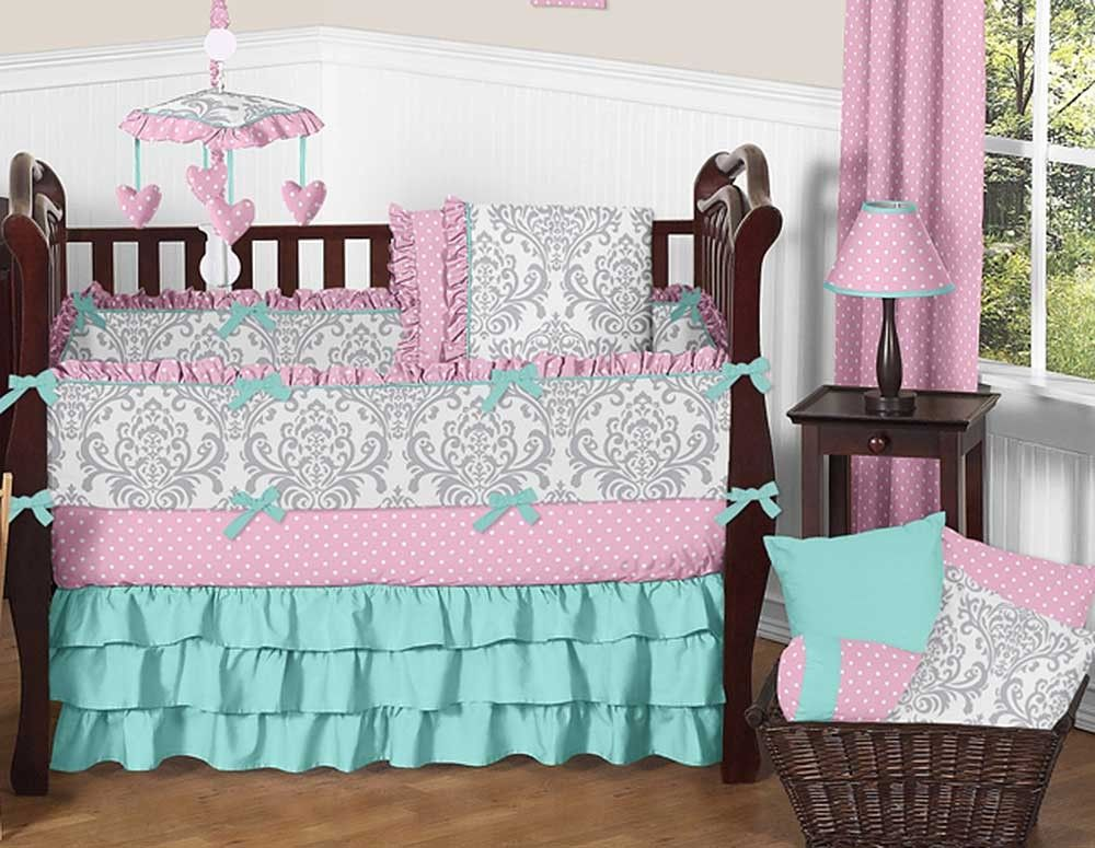 Skylar Crib Bedding Set by Sweet Jojo Designs - 9 piece - Blanket Warehouse