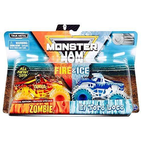 Monster Jam Fire Ice Exclusive 2 Pack Zombie Vs El Toro Loco Monster Truck In 2021 Monster Jam Monster Trucks Hot Wheels Monster Jam