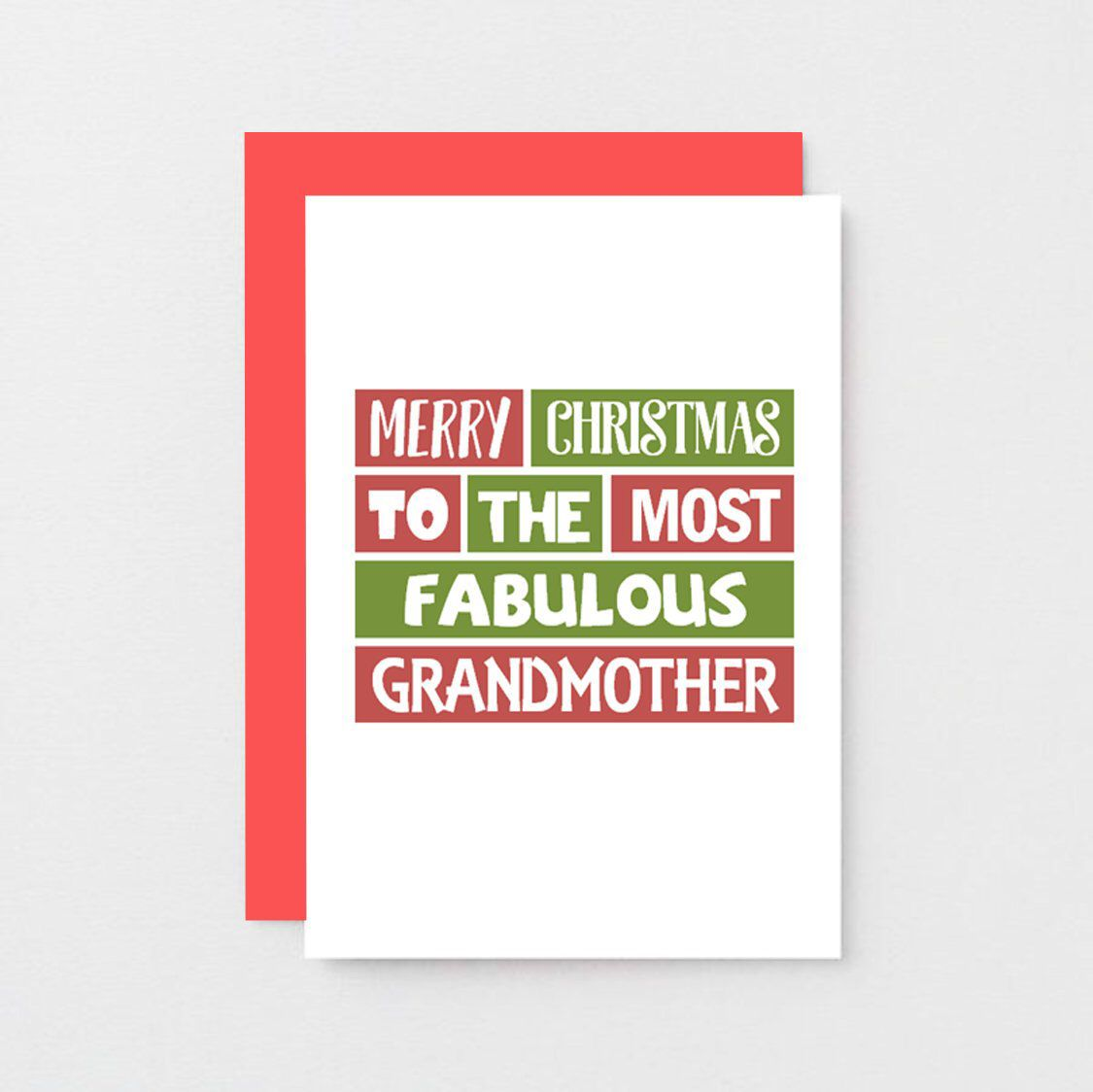 Grandmother Christmas Card Fabulous Grandmother Merry Christmas