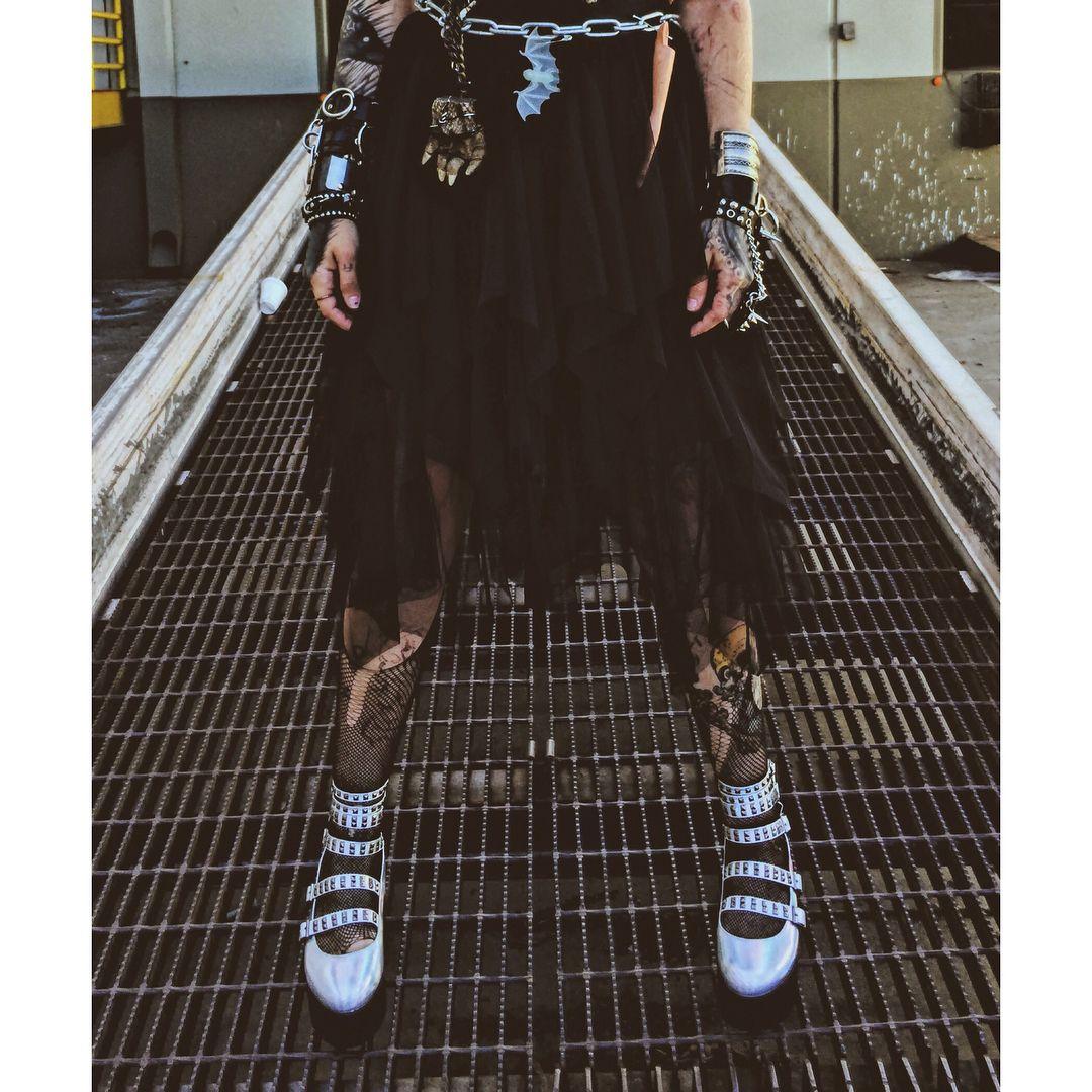 Demonia GRIP-105 Women/'s Platform Lace-Up Ankle High Sandal