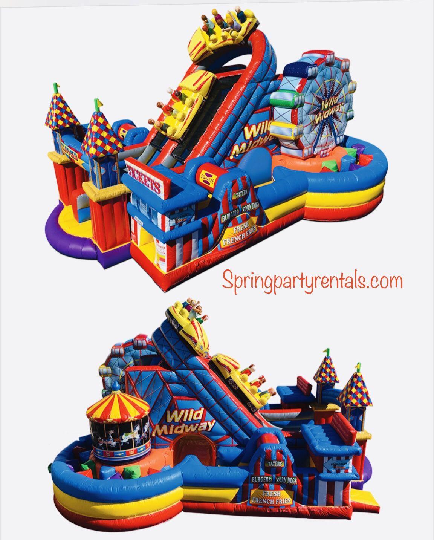 Amusement park huge obstacle course rental in 2020