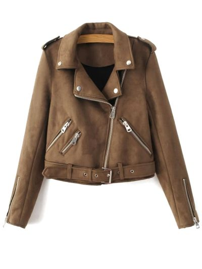 SHARE & Get it FREE | Lapel Zipper Pockets Suede JacketFor Fashion Lovers only:80,000+ Items • New Arrivals Daily Join Zaful: Get YOUR $50 NOW!