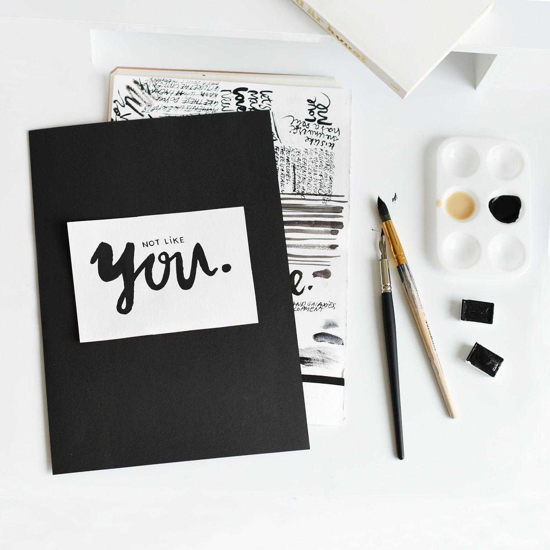 Lettering. Handlettering. Typography. Print design. Graphic design. Black and white. Ink. Sketchbook
