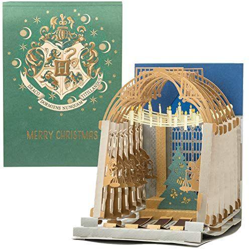 Harry Potter Hogwarts Great Hall Pop-Up Christmas Card