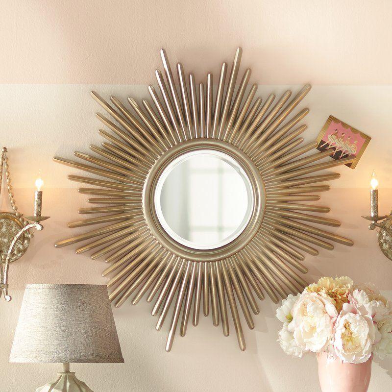 Josephson Starburst Glam Beveled Accent Wall Mirror Sunburst Mirror