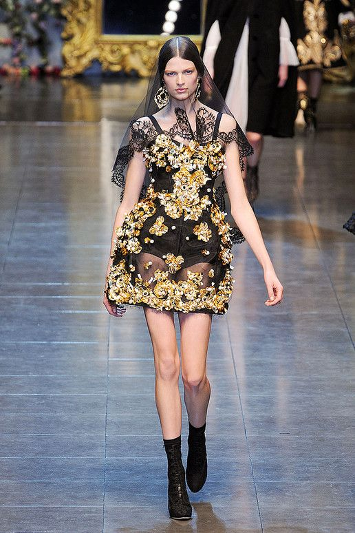 Baroque inspired fashion