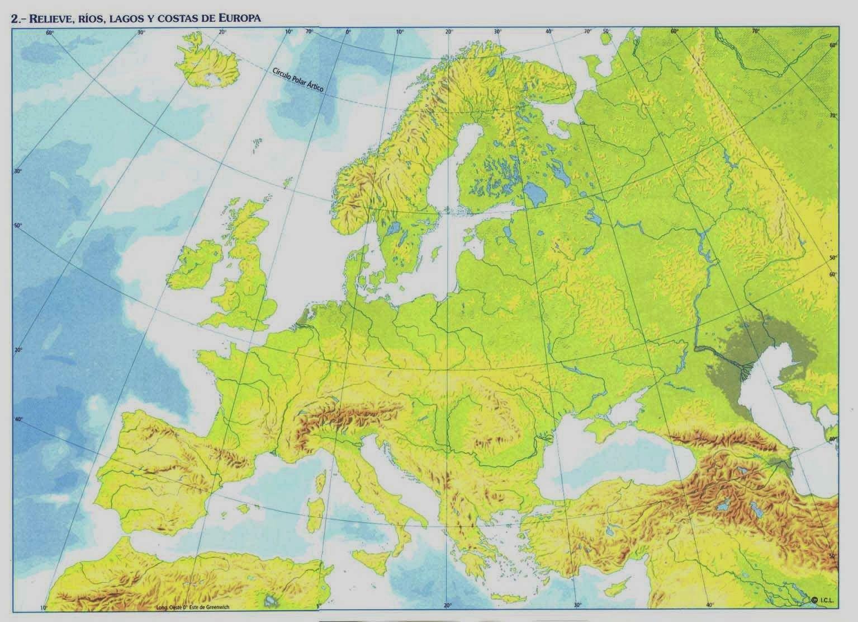 Mapa De Europa Mas De 250 Imagenes De Calidad Para Imprimir