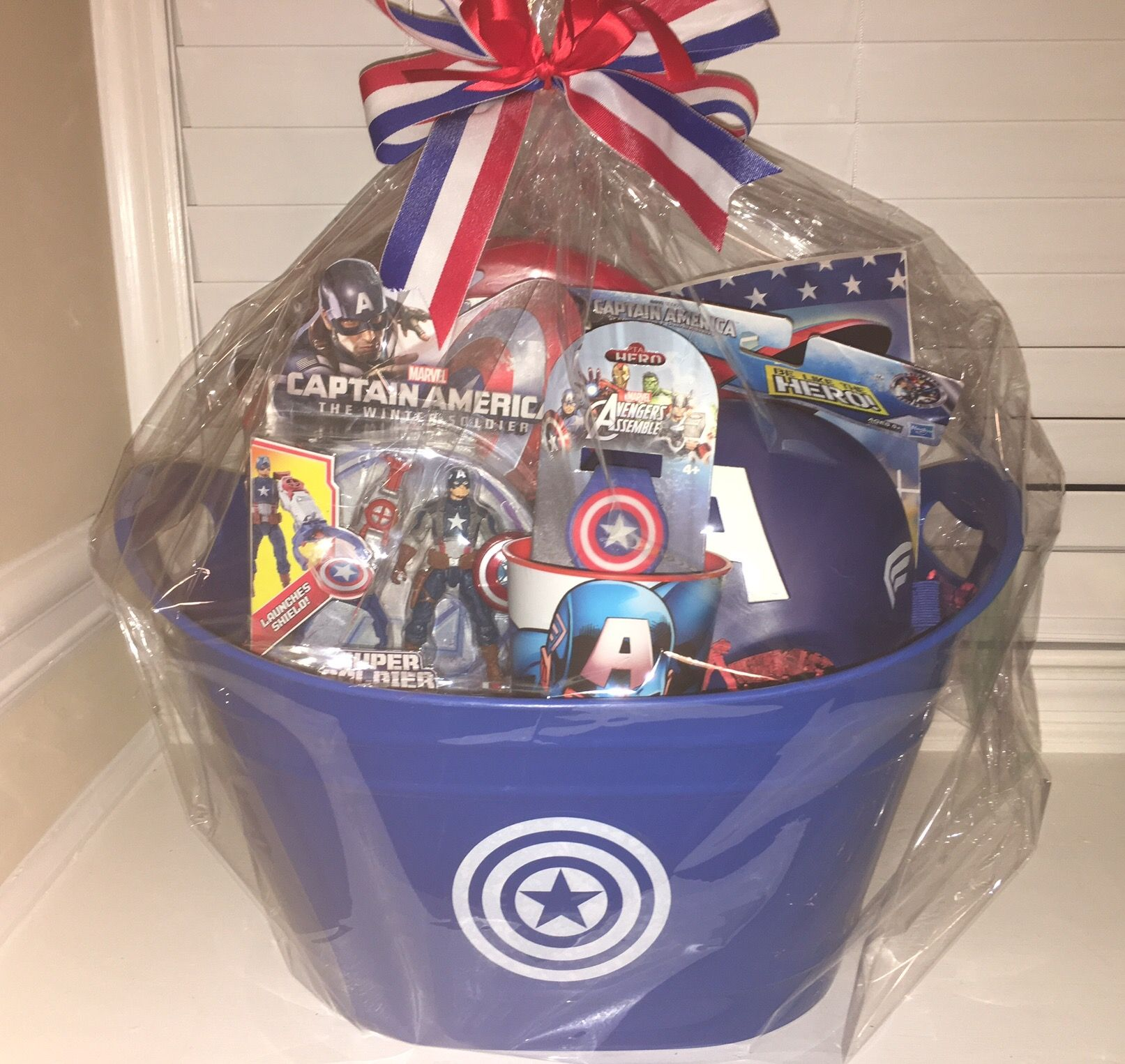 Captain America Gift Basket Marvel Gifts Diy Gifts For