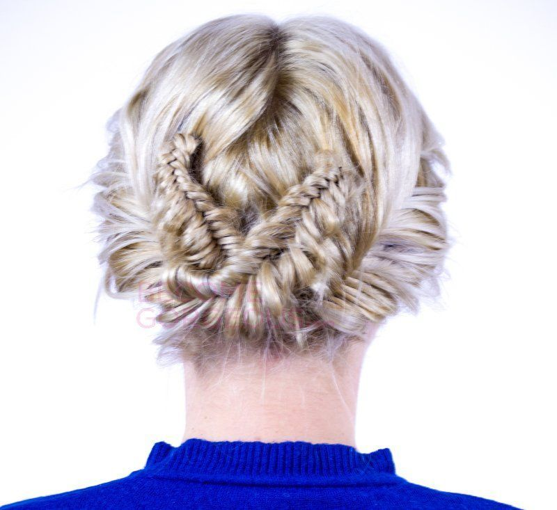 Add a stylish touch to your updos and try this double fishtail braid updo tutorial! # double fishtail Braids # double fishtail Braids