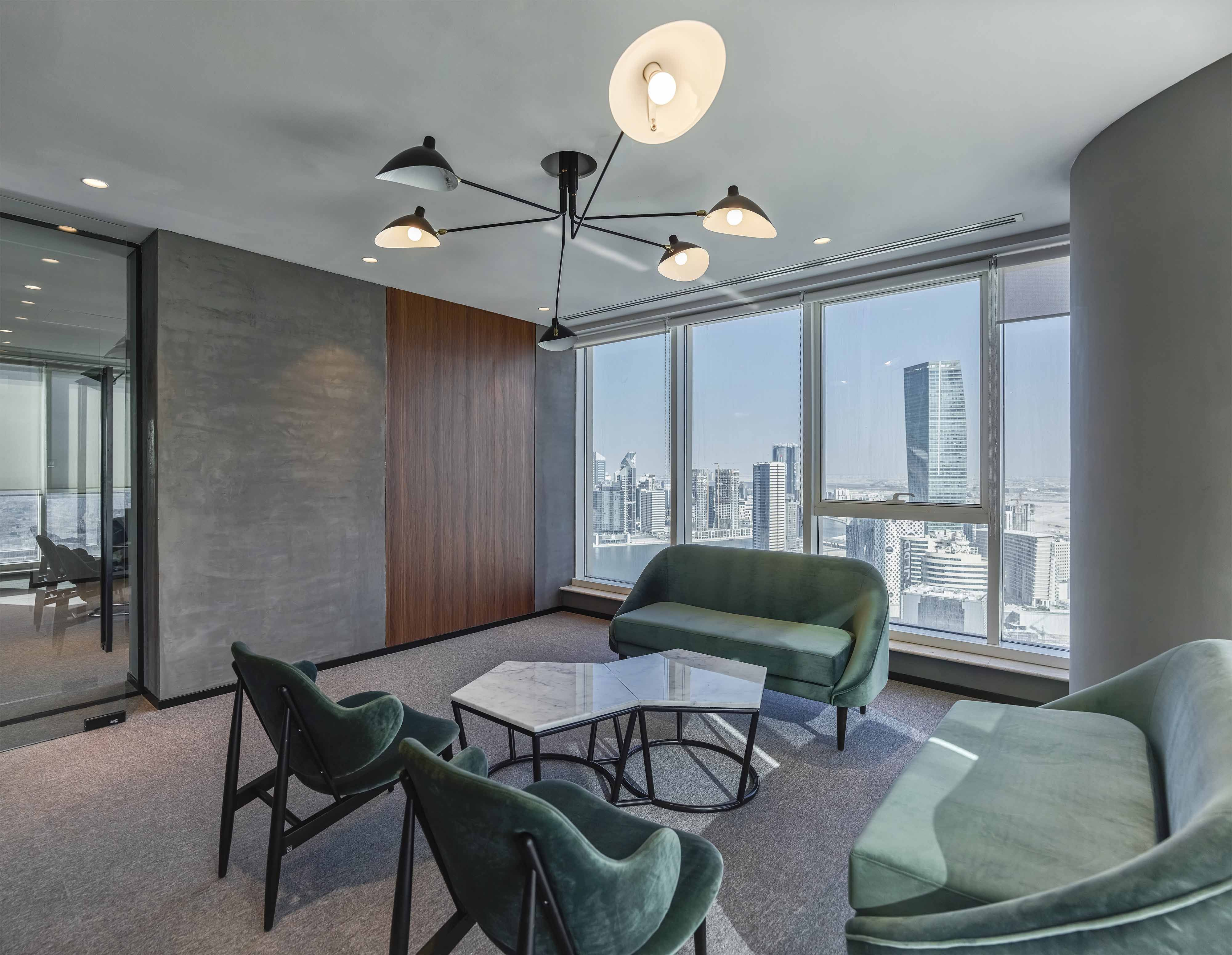 Emirates national investment office by swiss bureau interior design collaboration room