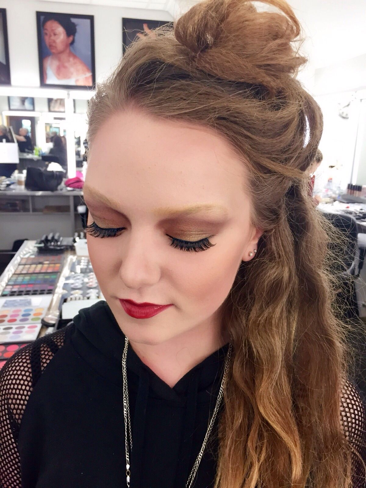 Holly Rose runway makeup. Faux bleached brows