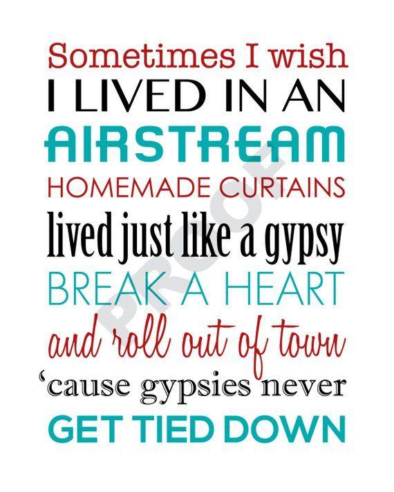 Miranda Lambert Airstream Song Printable Lyrics Artwork