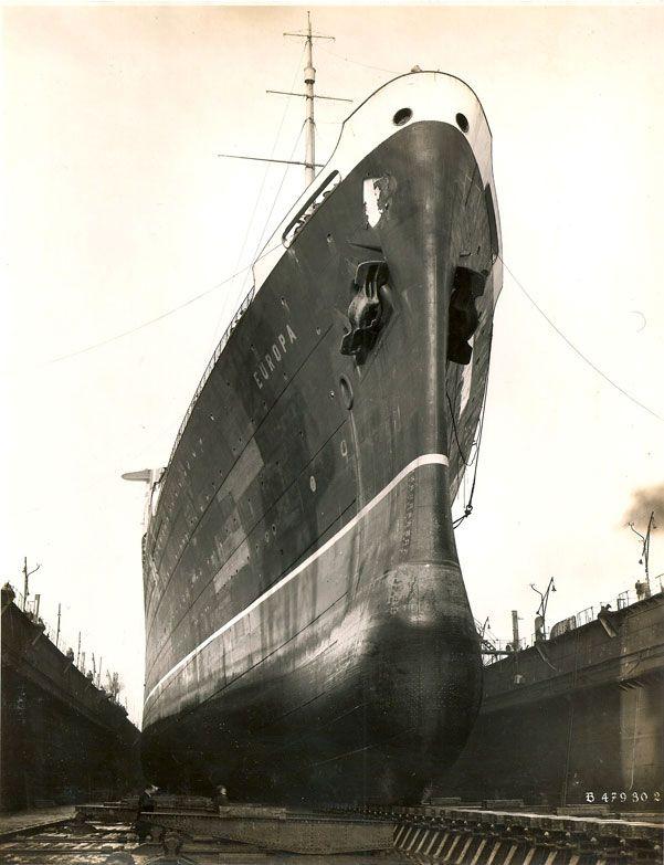 Afbeeldingsresultaat voor 1912 SS Bremen bow
