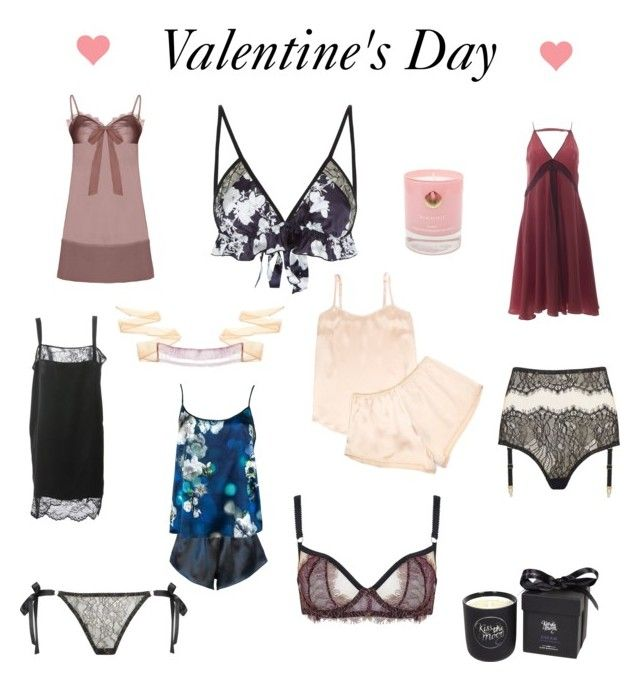 """""""Valentine's Day"""" by wolfandbadger ❤ liked on Polyvore featuring Edge o' Beyond, Violet & Wren, Roses Are Red, Elise Anderegg, Law of Sleep, StephieAnn, Hightide Devon and Kiss the Moon"""
