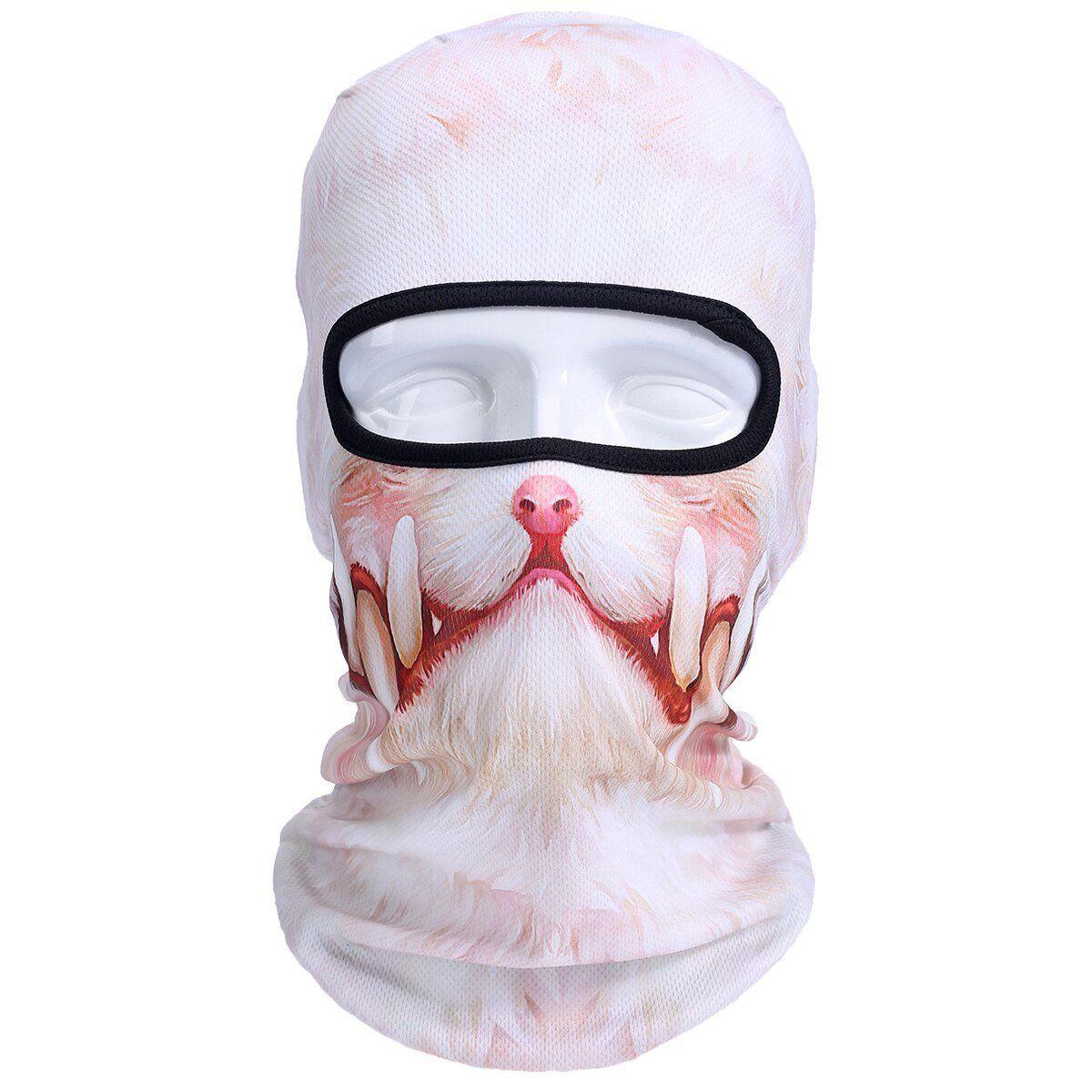 Balaclava Motorcycle Full Face Mask 3D Animal Cat Dog Hats