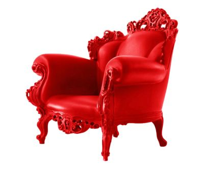 Sedie Francesi Da Giardino : Poltrona magis proust rosso sweet home arredamento sedie e