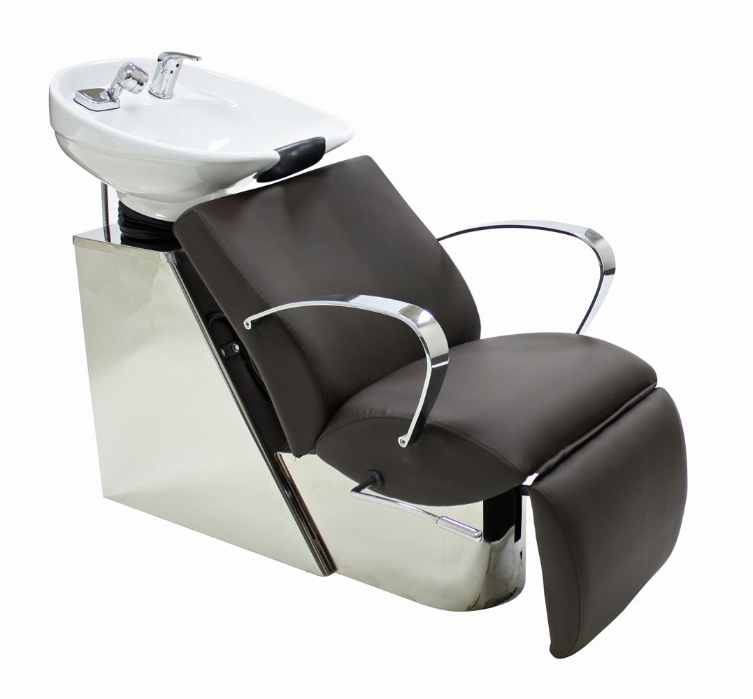 Cc5501 shampoo chair with footrest attachment and bowl