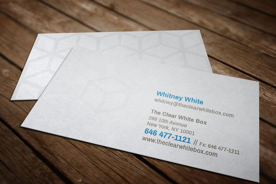 Clear White Box Business Card In 2020 Clear Business Cards Business Card Template Card Template