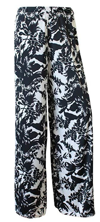 11682b8f5fa WearAll Plus Size Women s Palazzo Trousers at Amazon Women s Clothing store