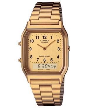 G-Shock Women s Casio Analog-Digital Gold-Tone Stainless Steel Bracelet  Watch 29.8mm - Gold 0bb1e69dd8