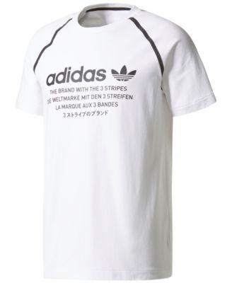 Adidas Originals Men's Graphic T shirt In White   ModeSens