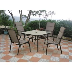 Hampton Bay Morrison 5 Piece Padded Sling Patio Dining Set   DISCONTINUED    11S157A 1 / 11S742C At The Home Depot   Was Down To $149 In 2012, ...