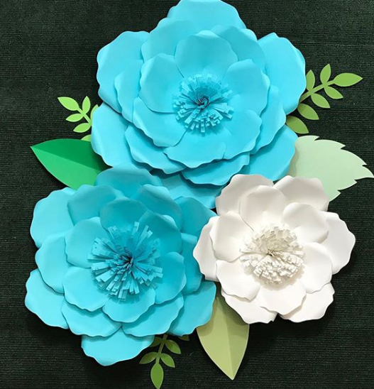 Downloadable Pdf Paper Flower Template Sarafina Paper Flowers