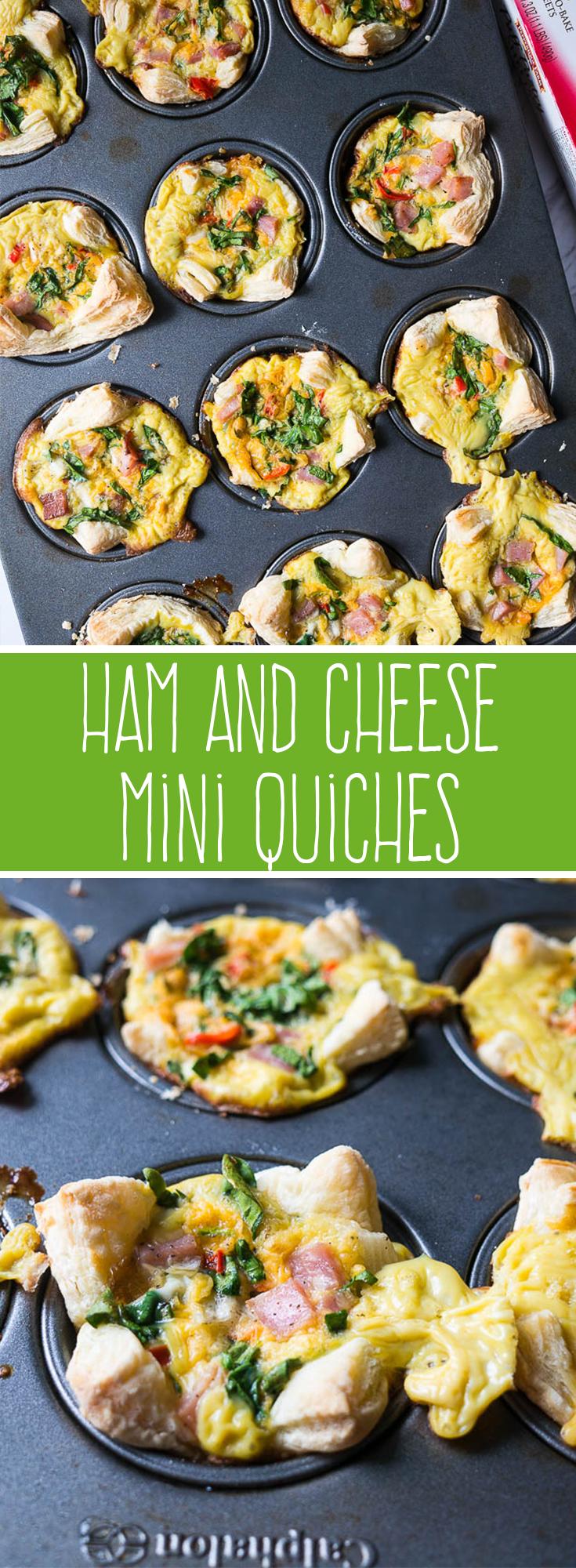 Ham and Cheese Mini Quiches Recipe Appetizer recipes