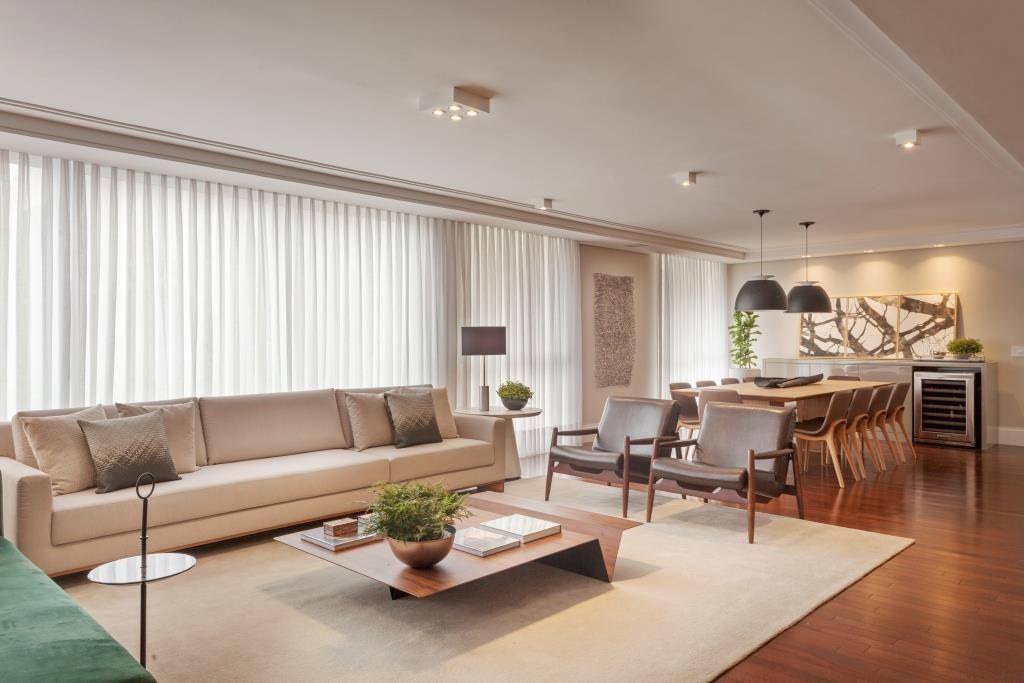 Sala De Estar Integrada Com A Sala De Jantar Design De Interiores