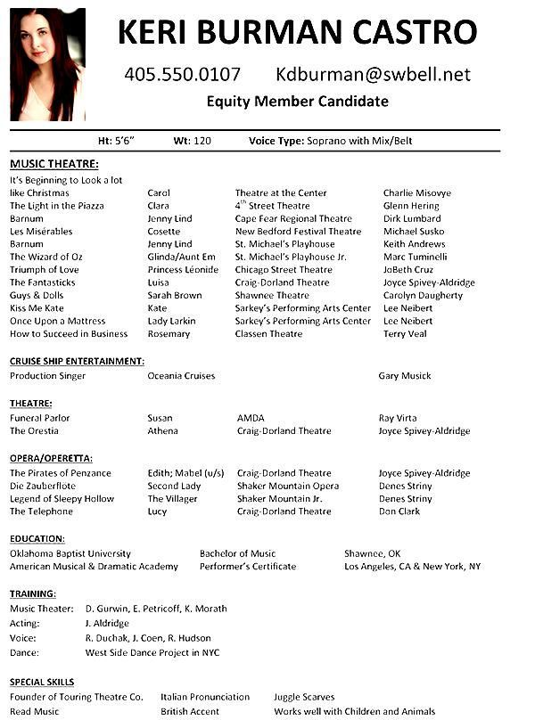 Image result for samples of music resumes Resume Examples
