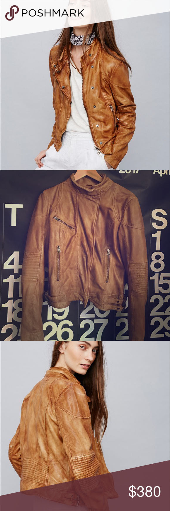Fitted And Rugged Leather Jacket This Jacket Is In Great Condition Like New Color Redwood Style 39823190 Color Co Free People Jacket Workout Jacket Jackets