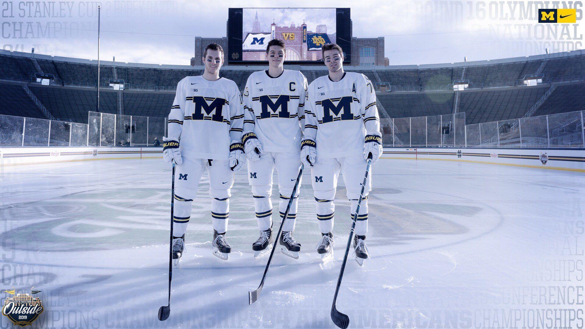 Bucci Mane On Twitter Michigan Hockey Hockey Uniforms Hockey
