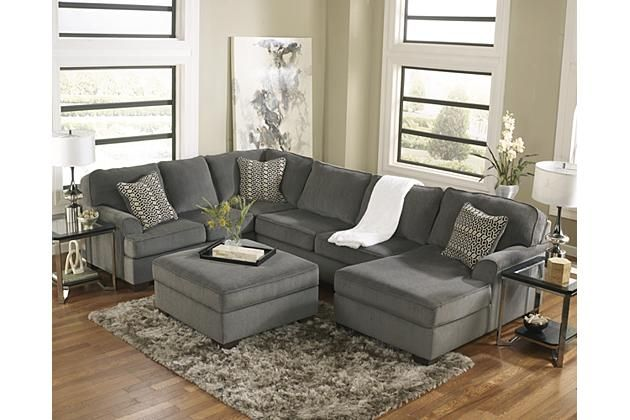 ashley loric contemporary by furniture gray smoke cuddler sectional sofa