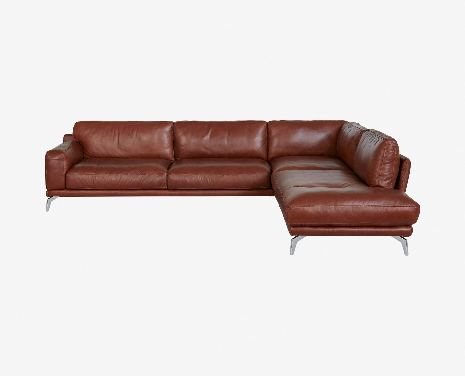 Peruna leather right sectional in 2019 living room finds - Unique living room furniture ...