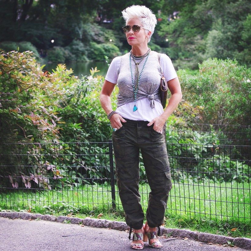 Camo In Central Park - Chic Over 50