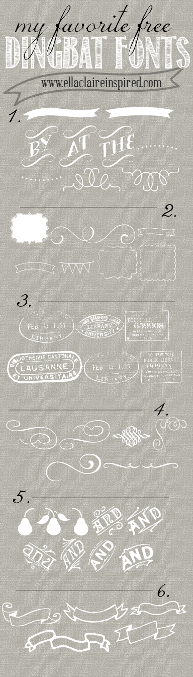 My Favorite Free Dingbat Fonts | Typography, Cool fonts and Free ...