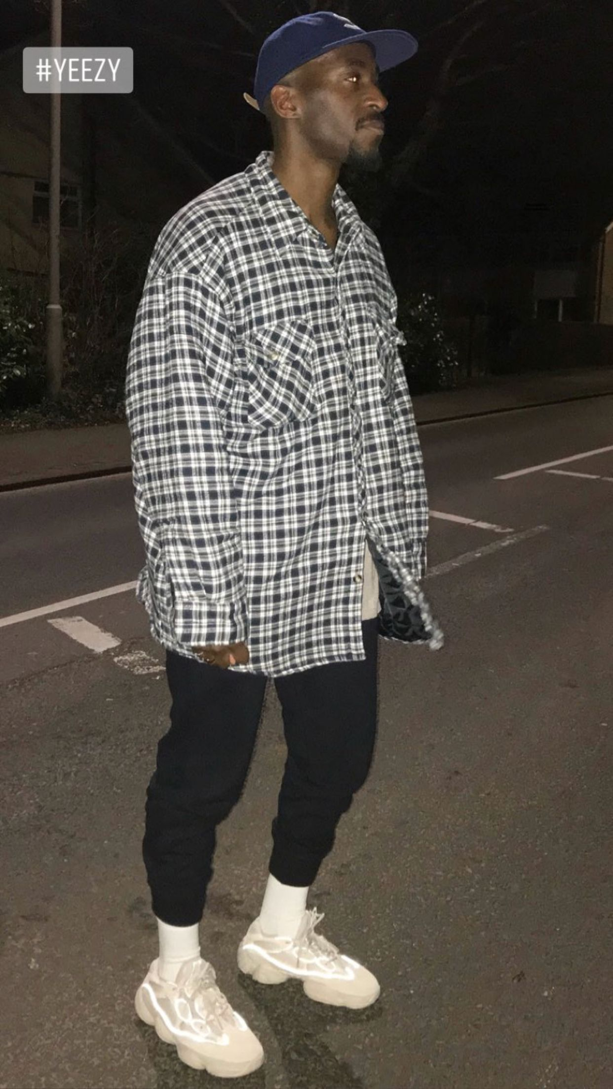 outfit with yeezy 500