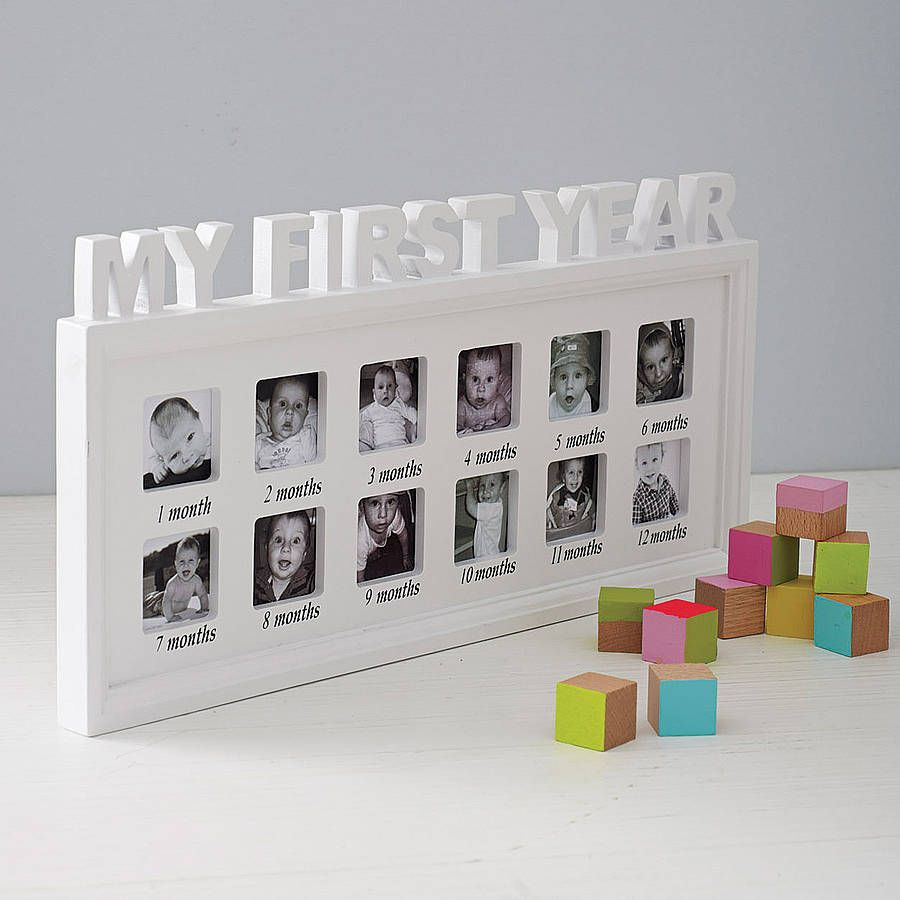 My First Year Photo Frame By Posh Totty Designs Interiors Notonthehighstreet Com With Images Baby Frame New Baby Products